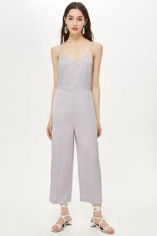 TOPSHOP Satin Jumpsuit NEW