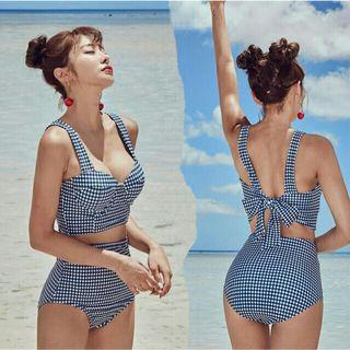 Korean hot bowknot sexy high waist swimsuit