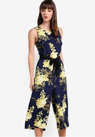 WAREHOUSE Wisteria Print Jumpsuit