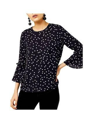 WAREHOUSE Dotty Blouse NEW