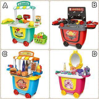現貨❗現貨❗ 🍔趣味性玩具套裝手推車🍨