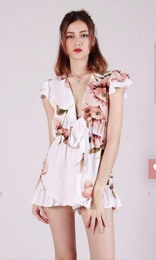 Kissablebella Winsey Floral Bow Playsuit
