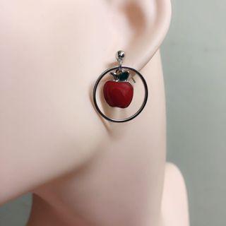 可愛紅蘋果耳環