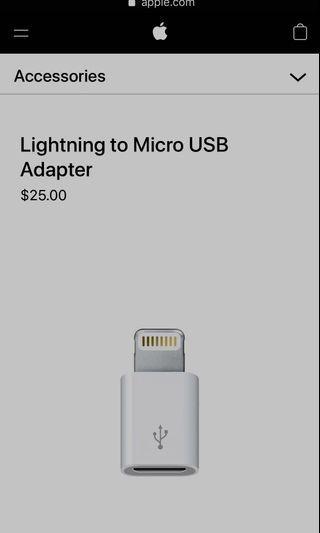 BN Micro to Lightning Adapter