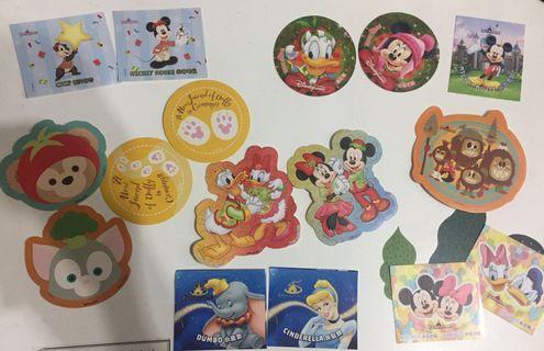 多款香港迪士尼貼紙 大眼仔 唐老鴨 Duffy Dumbo Mickey Minnie Ariel Duffy