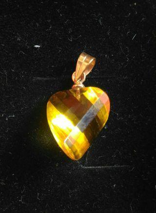 黃水晶墬飾