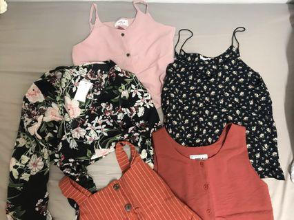 BRAND NEW sleeveless tops, rompers and dress sales