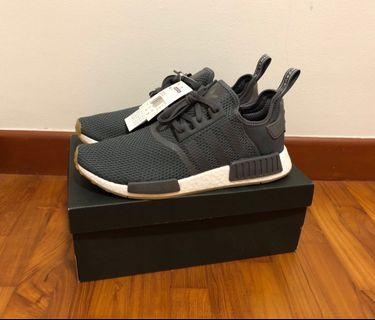 0b26c7755 Guaranteed Authentic New Adidas White NMD R1 Shoe sneaker in grey core  black colourway UK10