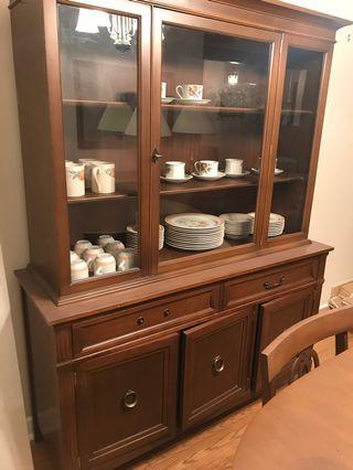Wooden glass cabinets