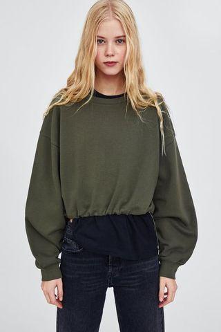 BNWOT Zara Army Sweatshirt