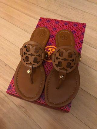 Authentic Tory Burch Miller flip flops