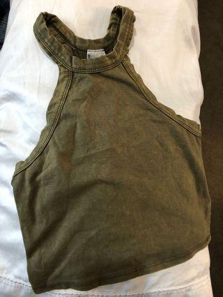Army Green Crop Top XS/S