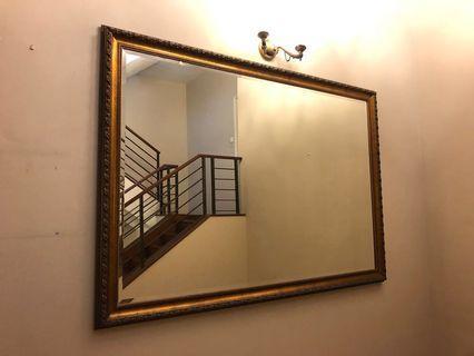 Baroque solid wood mirror