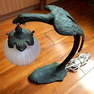 古早 安德烈銅製老鷹造型枱燈