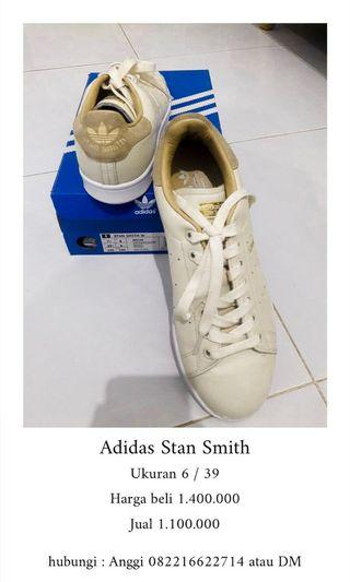 Adidas stan smith size 39.5 warna cream (rare item)