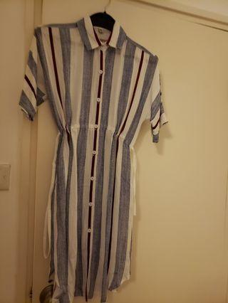 棉麻連身裙