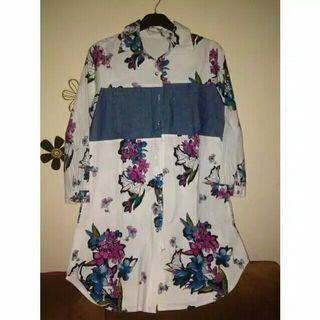 TUNIK PATERN MIX DENIM