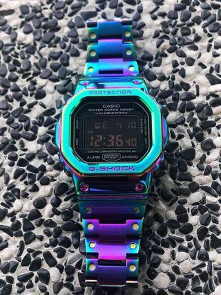 🚚 Restocked but very limited units - CUSTOM Rainbow / Iredescent / dazzle FULL METAL Dw5600 CASIO G-Shock , gshock , g-shock , metal gshock , metal dw5600 , dw-5600 , Casio , CASIO , casio