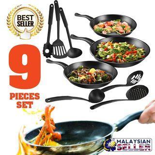 9pcs kitchen cookware