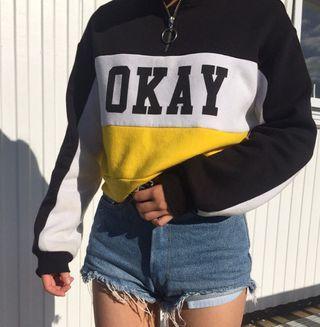 H&M zip up pullover
