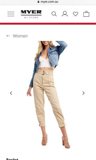 Bardot size6 NEW cargo pants