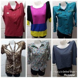 Tees,Blouses,Longsleeves and Sleeveless