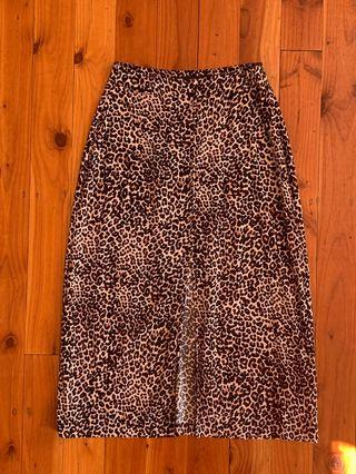 Animal Print Skirt Size 6