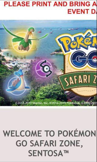 🚚 21st april ticket pokemon safarizone sentosa