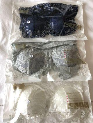 Japanese wireless lace bra