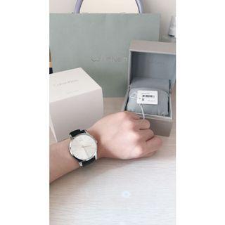 正品 CK Calvin Klein 石英手錶 凱文克萊 簡約 白面 k2g211c6 素面 男錶