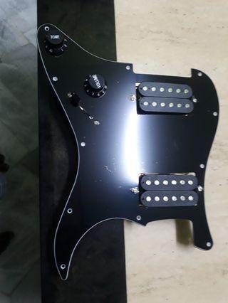 Guitar prewired pickguard