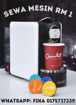 RM1 sebulan Arristo Machine Coffee