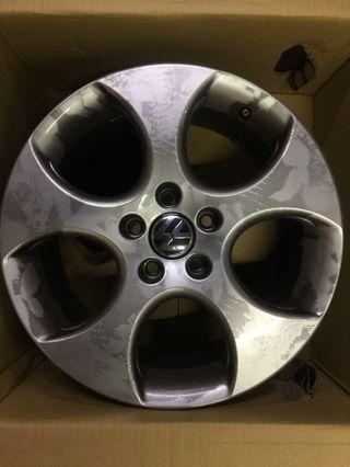 Golf GTI 6 原廠鋁圈 17吋 出清