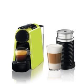 ** Brand New ** Nespresso Essenza Mini Lime Green & Aeroccino Bundle