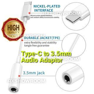 Type-C To 3.5mm Earphone Cable Adapter. AUX Audio Adaptor