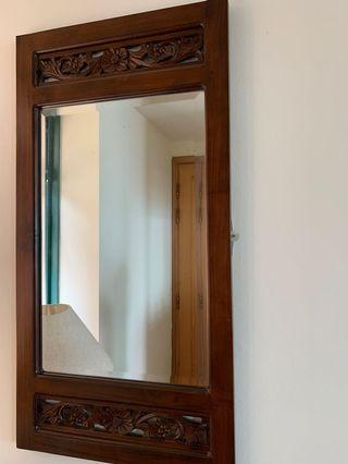 Solid wood Wall Mirror