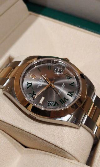 Rolex Datejust 41 126303 Wimbledon Dial