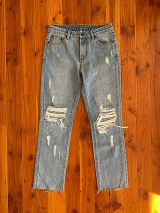 Distressed Size 8 Jeans
