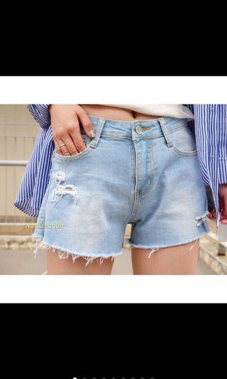 🚚 全新 淺色牛仔短褲