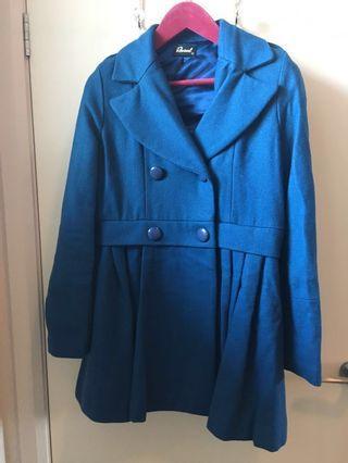 Retro Blue Coat By Revival Size 14