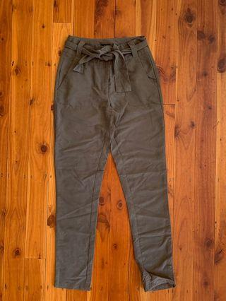 Khaki Tie Waist Pants Size 6