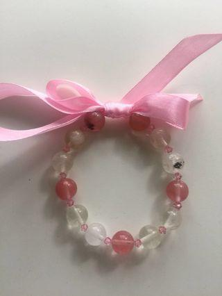 Glass Cherry Quartz bracelet