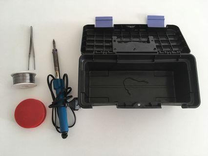 Soldering tools set + box