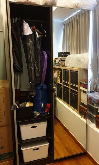 IKEA Pax Wardrobe with Vikedal Glass Doors