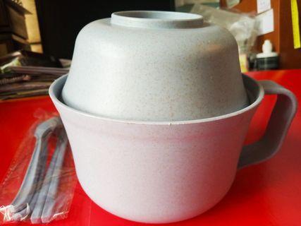 🍵🍵🍵環保带蓋小麥杯碗