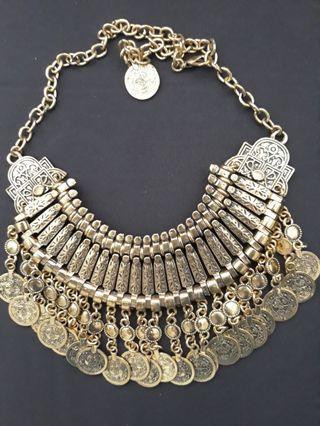 Brand New Boho Gold Coin Collar Necklace