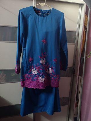 Baju Kurung Moden / Baju Kurung Sulam / Kain Sulam / Baju Moden / Baju Muslimah