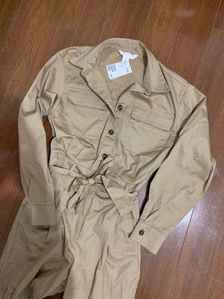 H&M beige jumpsuit