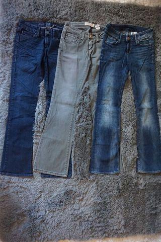 3 pairs assorted jeans $25