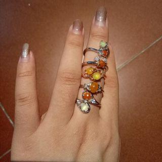 銀鑲翡翠戒指